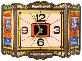 Breweriana Clock & Sign (2), Heileman's Old Style,