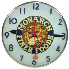 Monarch Fine Foods Electric Light-up Clock W/bubb