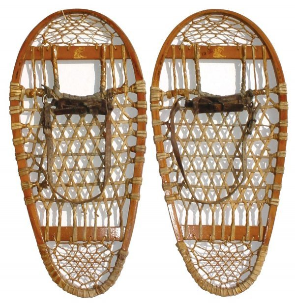 0740: Wooden Snowshoes, Lund Brand, New Old Stock W/ori