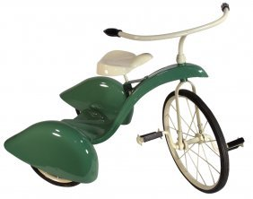 Tricycle, Airflow Style, Steel, Green & Cream, Ex