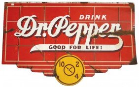 Dr. Pepper Porcelain Sign, 2-sided, Colorful, Fair