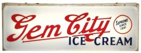 Gem City Ice Cream Light-up Clock From Dayton, OH,
