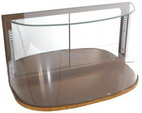 Wrap-around Curved Glass Counter Display Case, Mir