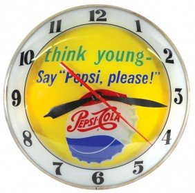 "Pepsi-Cola ""think Young Say Pepsi Please"" Double-b"