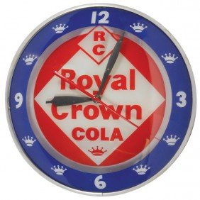 Royal Crown Cola Double-bubble Light-up Clock, Mfg