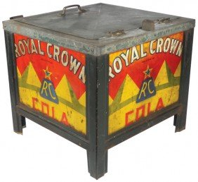 Royal Crown Cola Glascock Cooler, Embossed Adverti