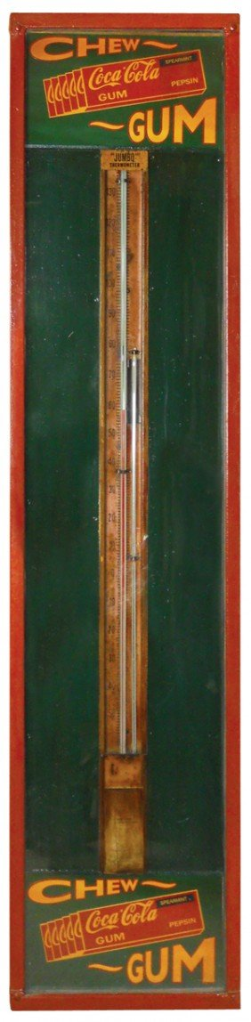 Jumbo Thermometer & Barometer W/adv For Coca-Cola