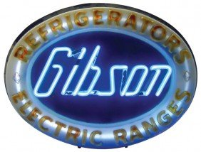 Gibson Refrigerators & Electric Ranges Neon Sign