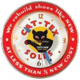 Cat-Tex Soles Light-up Clock, Convex Glass W/uniq