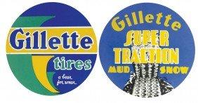 Automobilia (3), Cdbd Gillette Bear Tire Insert & 2 Oth