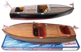 Boats (2), Sterling Scale Models, Mahogany Dual C