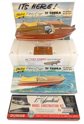 Toy Boats (3), R-C Craft Replica Chris-Craft Cobr
