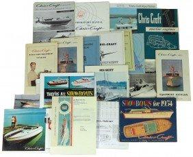 Boat Dealer Advertising Literature, 30+ Pcs Of Ch
