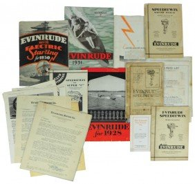 Boat Dealer Advertising Literature, All Evinrude,