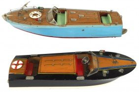 Toy Boats (2), Japanese ITO Speed Boats, Very Rar