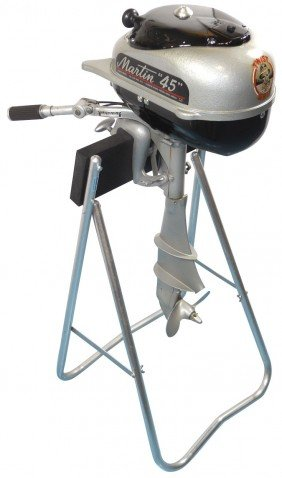"Boat Outboard Motor W/stand, Martin ""45"", C.1952,"