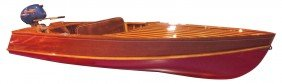 Speed Boat, Larson Speed Runner, Wood, C.1951, 12