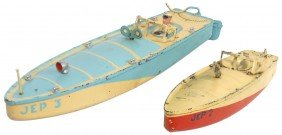 Toy Boats (2), J.E.P. Of France Tin Racing Boats,