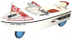 0284 Boat Pedal Car Jolly Roger W Outboard Motor