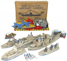 WW2 Cdbd Ships W/crews, Large Cardboard Stand-up