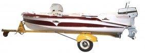 Runabout Boat, Larson Thunder Hawk, C.1957, 16 Ft