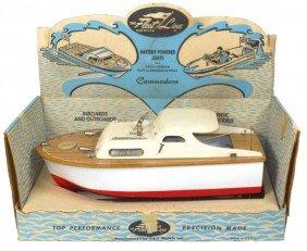 Toy Boat, Fleet Line Commodore W/box, Exc Cond, 1