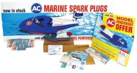 Toy Boats & Accessories, Box Of Marine Spark Plug