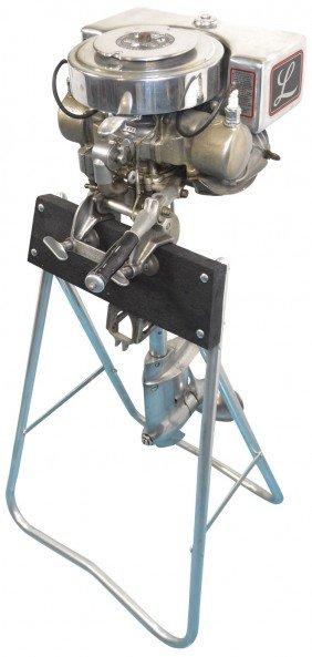 Boat Outboard Motor W/stand, Lockwood Standard Tw