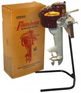 Boat Outboard Motor W/stand & Shipping Box, Flamb
