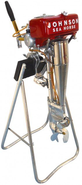 Boat Outboard Motor W/stand, Johnson Sea-Horse, C