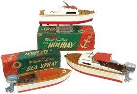 Toy Boats (3), Fleet Line Sea Spray W/box & Torna