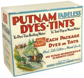 Country Store Putnam Dye Cabinet, Metal W/slanted