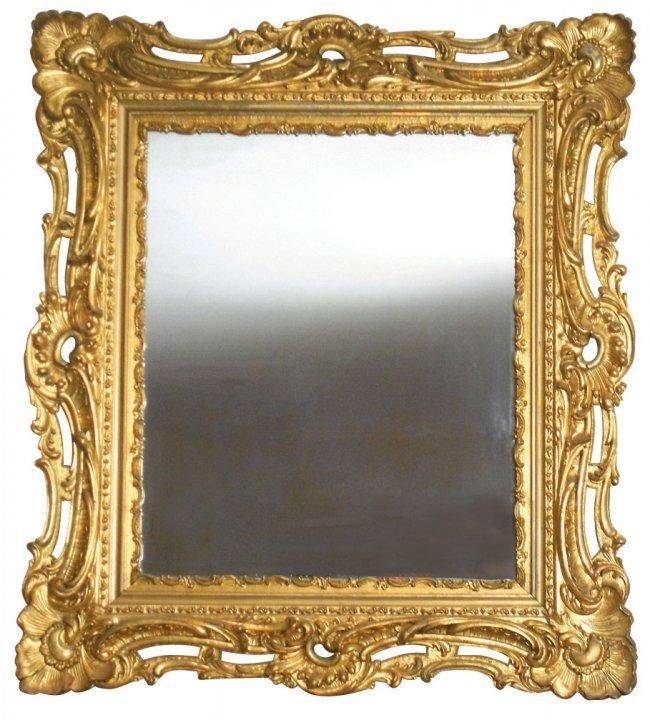 1236 furniture fancy victorian mirror in wood frame