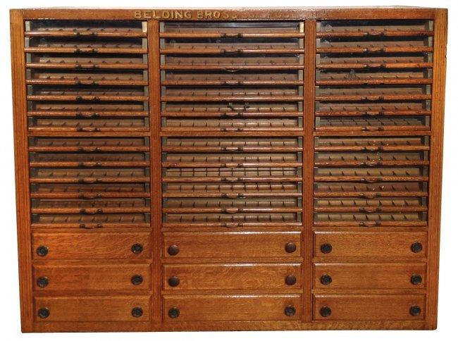 Spool Cabinet Belding Bros Spool Silk Large Oak 3 Co