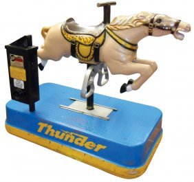 Coin Operated Riding Horse Quot Thunder Quot 25 Cents Mfgd