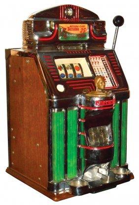 Coin Operated Slot Machine Jennings Buckaroo 25 Cent Lot 406