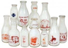 Milk Bottles (11), Mellow Gold Creamery-grants Pass, Or;