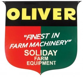 Tractor Sign, Oliver Tractor, Soliday Farm Equipment,