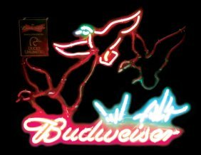 Breweriana Sign, Budweiser, Ducks Unlimited, Mfgd By