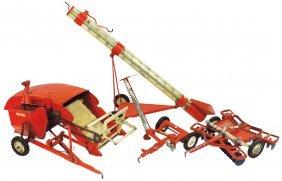 Farm Toys (4), Tru-scale Grain Auger, Metal W/plastic
