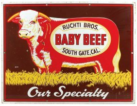 Livestock Sign, Ruchti Bros. Baby Beef Our