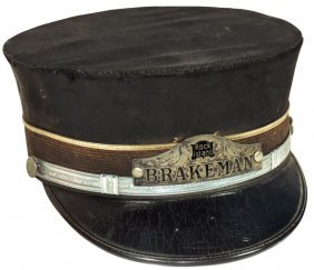 Railroad Hat, Rock Island Brakeman, Fabric W/metal