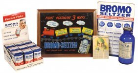 Drug Store Bromo-seltzer Advertising & Products (4),