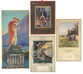 "Salesman's Sample Calendars (4), 1926 ""fields Of Gold,"""