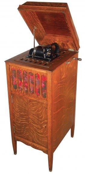 Music, Edison Cylinder Phonograph, Umbrella Style 75,