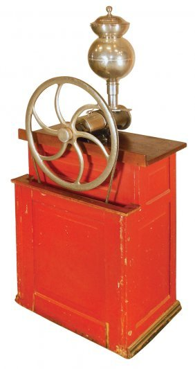 Country Store Coffee Grinder, Ideal Mfg. Co., Metal On