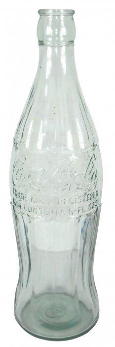 Coca-cola Oversized Embossed Glass Christmas Bottle,