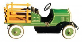 """Pedal Car, American National Stake Bed Truck """"rapid"""