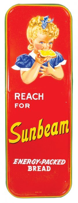 Country Store Sign, Sunbeam Bread, Self-framed Metal,