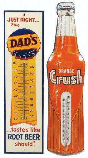 Soda Fountain Thermometers (2) Orange Crush Diecut